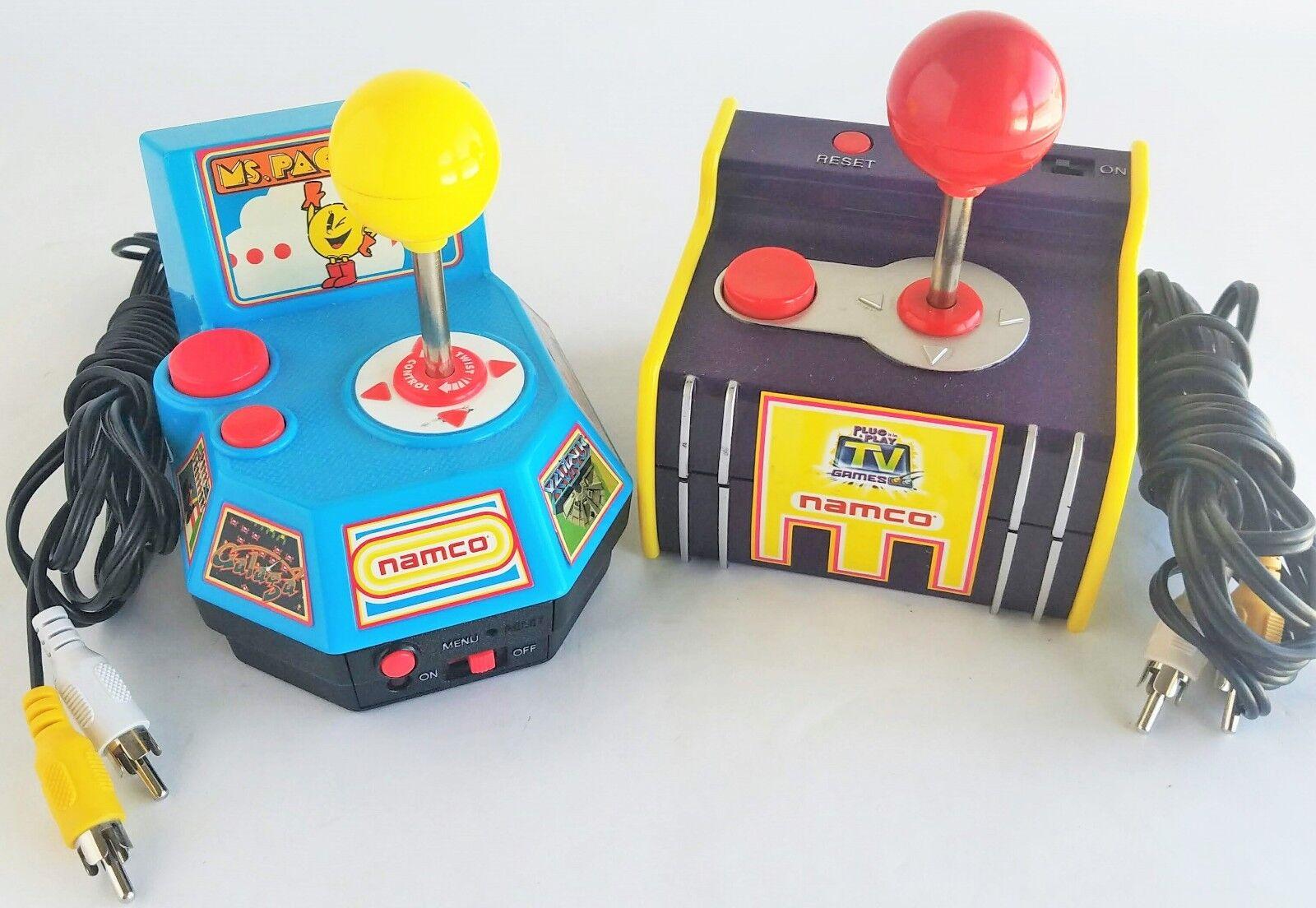 Namco Jakks Pacific 2003 Pac-man Plug Play Juegos De Tv 2004 MS PAC-Man probado Lote 2