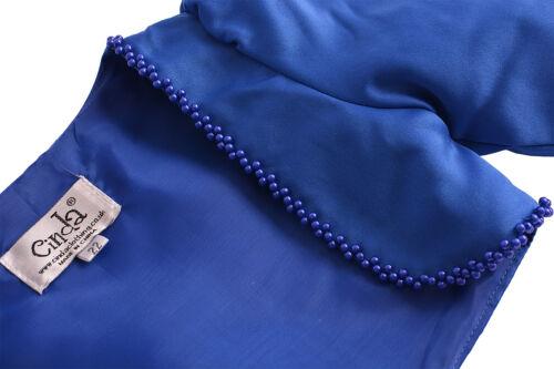 Long Sleeve Satin Bolero White Pink Ivory Purple Lilac Blue 2-3 to 9-10 Years