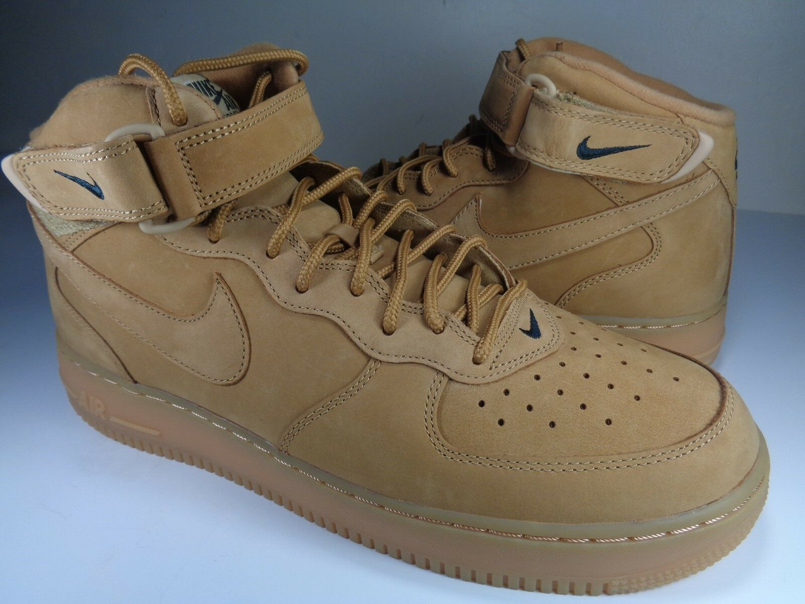 Nike Air Force 1 Mid 07 PRM Premium QS Flax Wheat Haystack SZ 11.5 (715889-200)