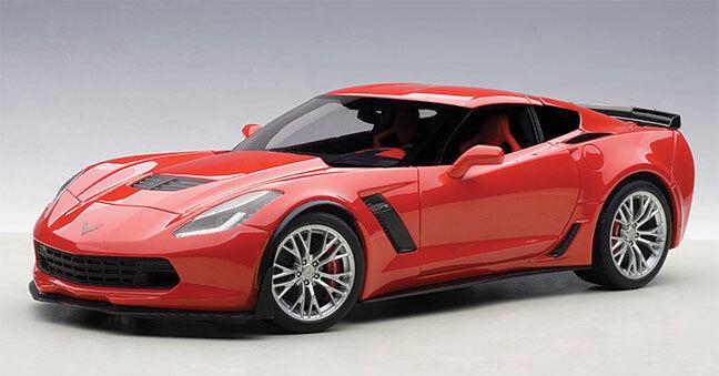 bilkonst tärningskast Corvette C7 Z06 C7R, Torch röd
