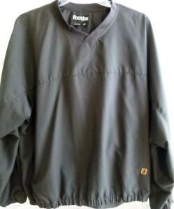 Footjoy-Golf-Mens-Pullover-Windbreaker-Jacket-Extra-Large-XL-V-Neck-Black