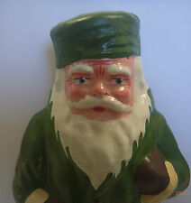 Candybox Weihnachtsmann sehr Alt! Pappmache 28cm* Grün *zum mit Süßigkeiten