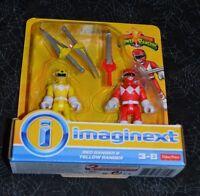2015 Fisher Price Imaginext Power Rangers Red Ranger & Yellow Ranger