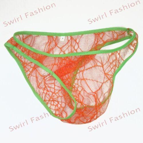 K3789 Hot Mens Underwear Briefs Bikini C-thru Net Spider Lace