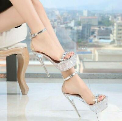 Femmes Plateforme Stiletto Talons Hauts Party Club Queen Chaussures Nightclub sz 35 EUR 48