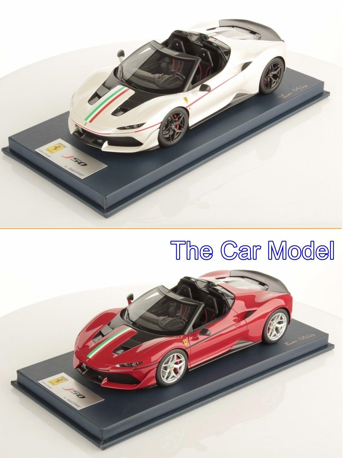 Ferrari J50 rosso Rosso, Bianco biancao con librea italiano-con Estuche LookSmart 1 18