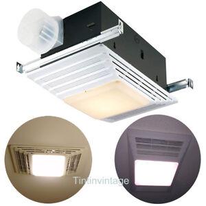 Broan Bathroom Combo Ceiling Light Heater Vent Exhaust Fan ...