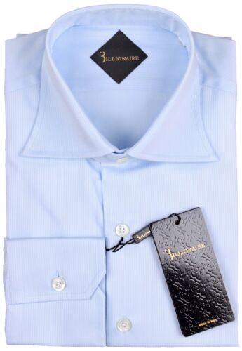 NWT BILLIONAIRE COUTURE DRESS SHIRT cotton sky blue luxury 41 16