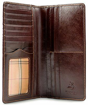 Visconti MZ-Z Genuine Leather Wallet Tall ID Bifold Compact Travel Glossy Soft