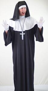 Detalles De Sister Act Monty Python Stag Noches De Fantasía Vestido Hombre Monja Cruz Plata