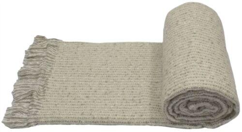 Beige tricoté tasselled 127x180cm jeter couverture