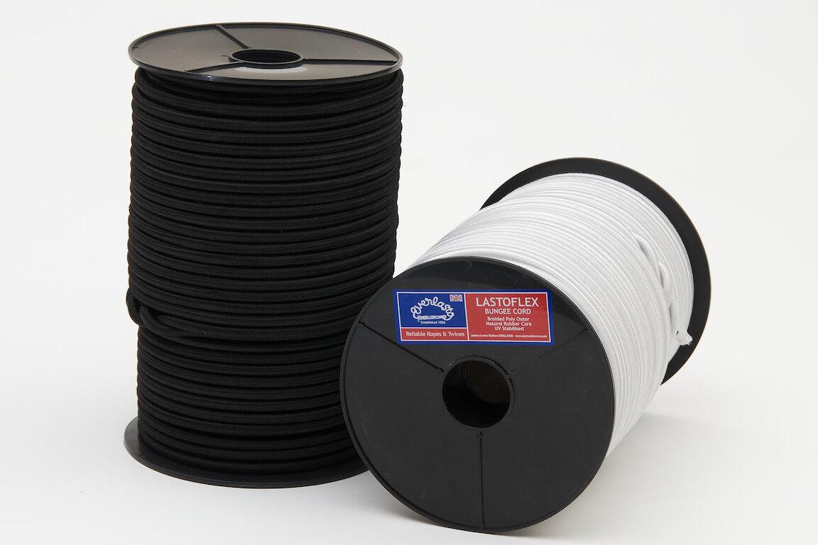 Weiß Schwarz Everlasto Elastischer Gummizug Seil Krawatte Unten - 50 Or 100m   | Kunde zuerst  | Neuer Stil  | Spielzeugwelt, glücklich und grenzenlos