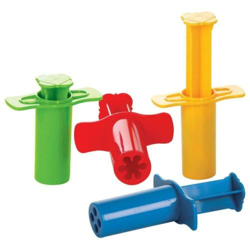 Gowi Knetwerkzeug Knetspritzen 4-er Set Spritze bunte Farben Knete modellieren