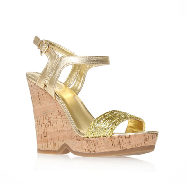 TRICKSTER NINE WEST SYNTHETIC GOLD WOMENS LADIES SHOE