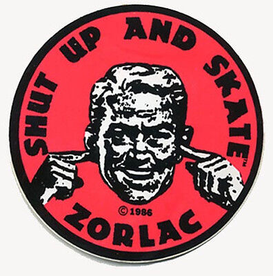 """/"""" Shut Up And Skate /"""" 1980/'s Style  Skateboarding  skating  decal"""