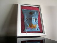 Sal de Ibiza - Modern Art - Kunst - Chips - signiert - Marsala Türkis - POP