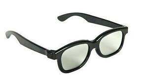3D Gafas Pasivo Polarizadas Negro Peliculas Cinema Películas Tvs (Pack de 2)