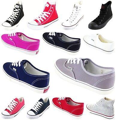 Herren Damen Schuhe Canvas Slipper Sneaker Schnürer Sportschuhe Textil
