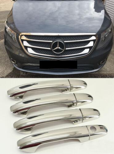 2014up mercedes VİTO W447 chrome front grill/&chrome door handle 4 doors.steel