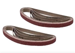 Powertec 3//8 x 13 inch 150 Grit Aluminum Oxide Sanding Sandpaper Belt 10 Pack