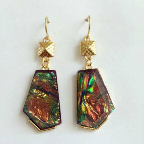 Fashion Gold Plated 4Colors Resin Shell Drop Dangle Hook Earrings New