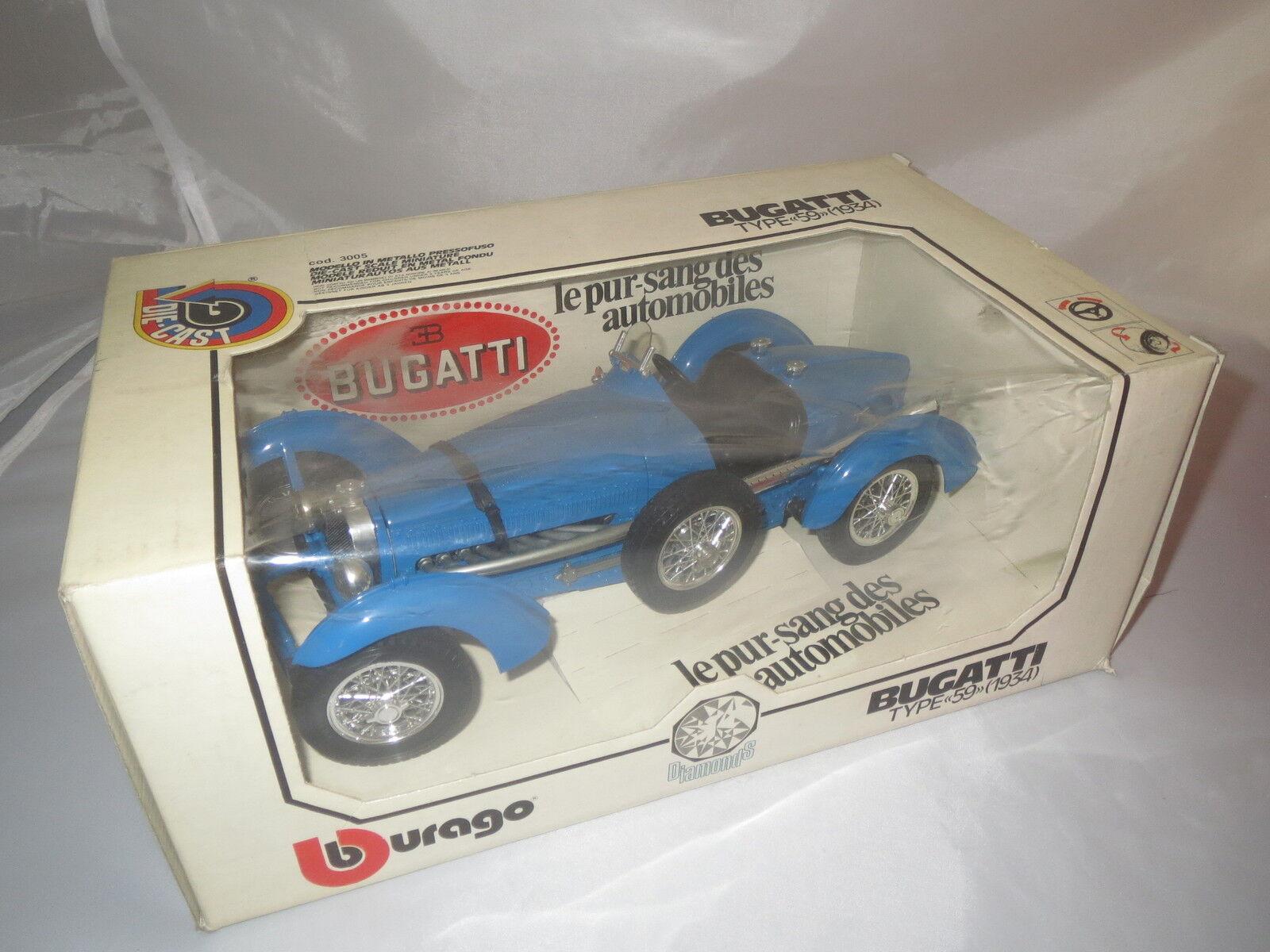 Dachbodenfund  Bugatti TYPE 59 (1934) - 1.Serie - sehr sehr selten  Weiße Box  | Feine Verarbeitung