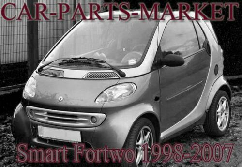 Left Passenger side Wide Angle Wing door mirror glass for Smart Fortwo 1998-2007