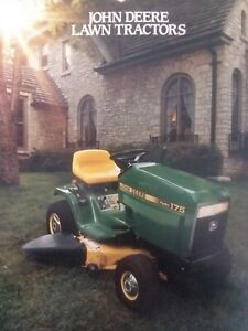 John Deere Lawn Mowers For Sale >> Details About John Deere 185 165 175 160 130 Lawn Tractor Color Sales Brochure Implement 1987