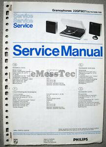 Philips-GF-907-Plattenspieler-Service-Manual
