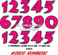 2809 NUMBERS RC Body Paint Mask Short Course SC10 TC6 Durangoi Traxxas