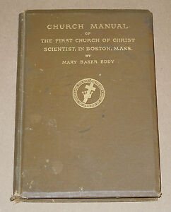 Church-Manual-of-First-Church-of-Christ-Boston-by-Mary-Baker-Eddy-1925-Hardcover