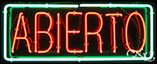 Brand New Abierto 32x13 Border Real Neon Sign Withcustom Options 10177