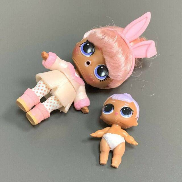 Color Changed Lol Surprise Dolls Snow Bunny Family with ...