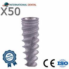50 Conical Spiral Implant Np For Nobel Biocare Active Hex Dental Implants