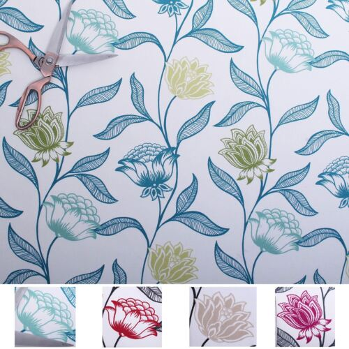100/% Cotton Luxury Eaton Floral Leaves Spring Summer Curtains Upholstery Fabric