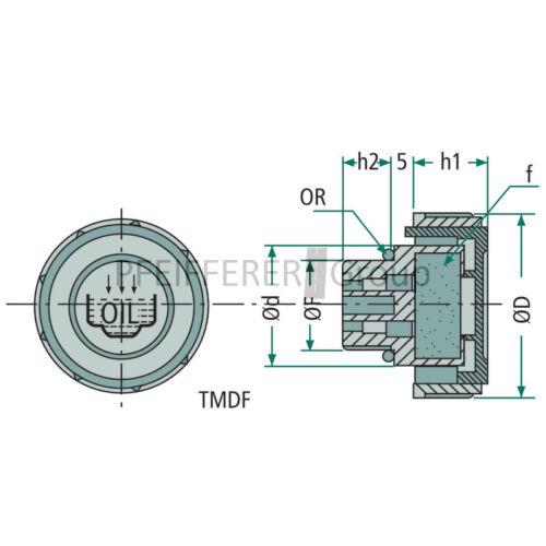 Hydraulikzubehör entlüftungsstopfen plástico m22 x 1,5