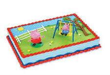 Peppa Pig swing set cake decoration Decoset cake topper set keepsake toys