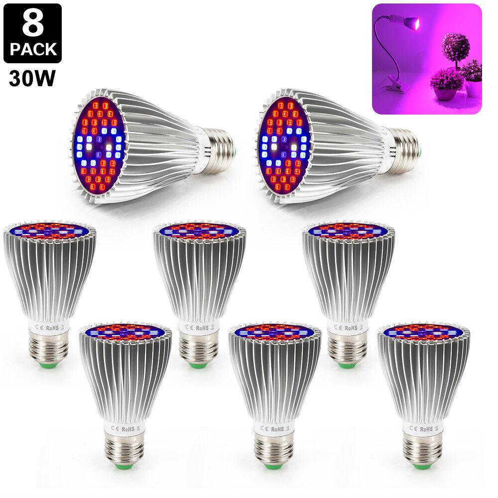 LED Grow Grow Grow Light Vollspektrum E27 30W Wachsen Lamp Für medizinische Blaumenpflanzen d84c4e