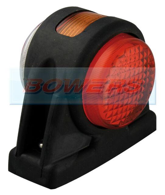 LED AUTOLAMPS 1005RWM 12V/24V RED/WHITE/AMBER OUTLINE END SIDE MARKER LAMP/LIGHT