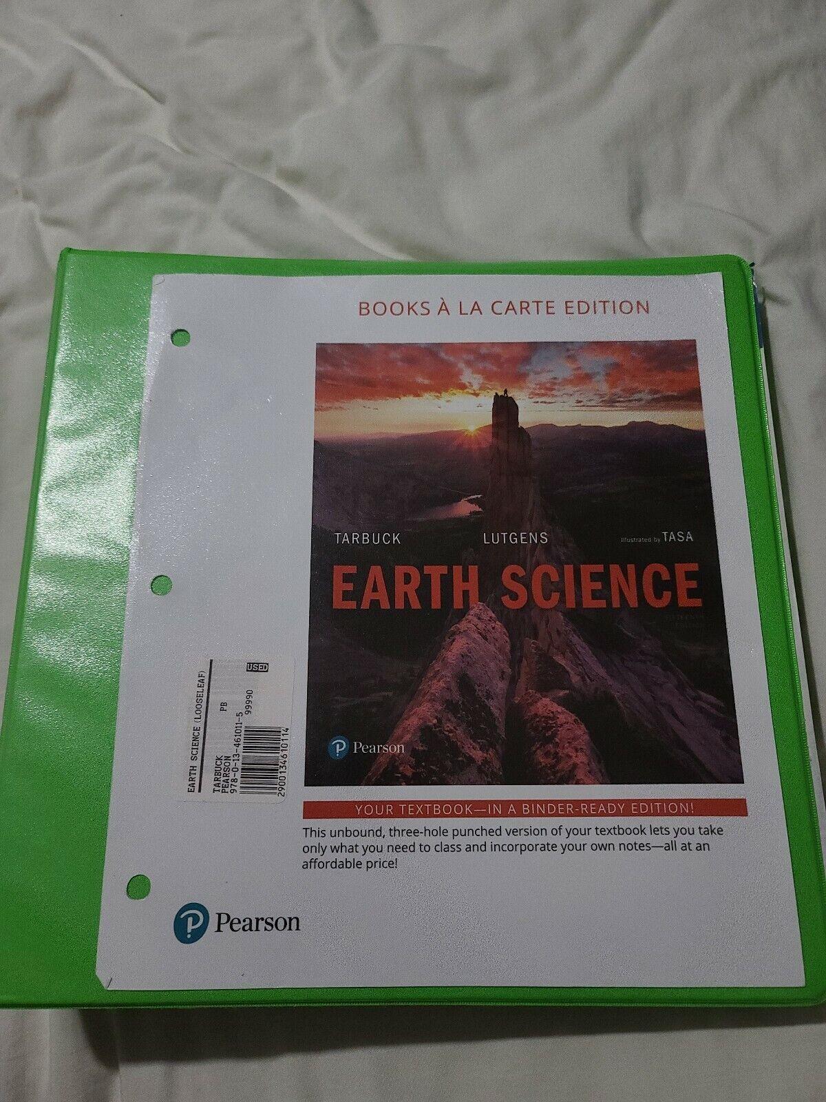 Earth Science, Books a la Carte Edition (15th Edition) - Loose Leaf - VERY GOOD 2