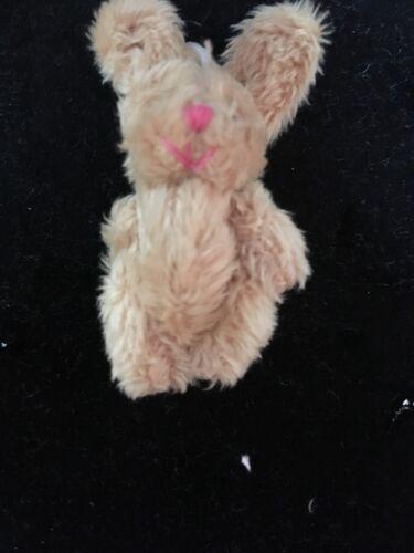 MINIATURE TINY SMALL JOINTED 5.5cm TALL FLUFFY BUNNY RABBIT /& 6CM TEDDY BEARS