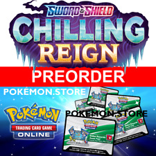 100 Chilling Reign Codes Pokemon TCG Online Booster PTCGO EMAILED PREORDER 6/18