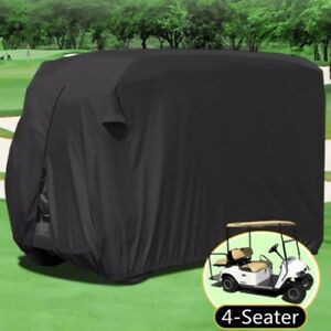 4-Seater-Passenger-Golf-Cart-Cover-Storage-Zippered-Rear-Air-Vents-Elastic-Hem