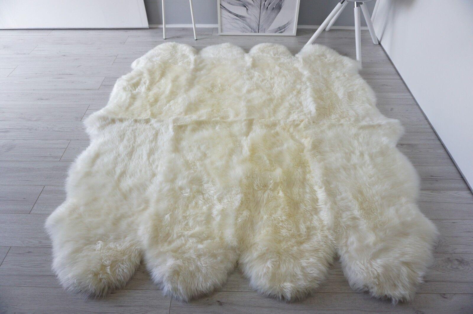 Genuine Australian Australian Australian Octo (8) Sheepskin Rug - Super Soft Silky Cream Weiß Wool 1c8ce2