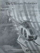 9/1981 PUB HUGHES HELICOPTERS CULVER CITY HUGHES 500D HUBSCHRAUBER ORIGINAL AD