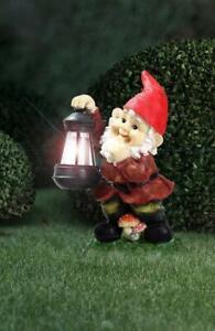 Solar Weihnachtsbeleuchtung Figuren.Details Zu Led Solar Leuchte Garten Zwerg Mit Laterne Bunt Licht Figur Globo Außen Neu
