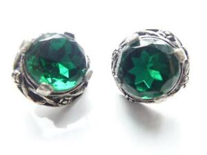 Image Is Loading Pair Of Vintage Celtic Style Emerald Green Clip