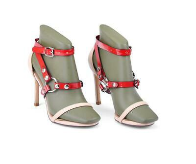 Punk Gothic Leather Ankle Belts Restraint Cuffs Fixed To High Heel Shoes Straps