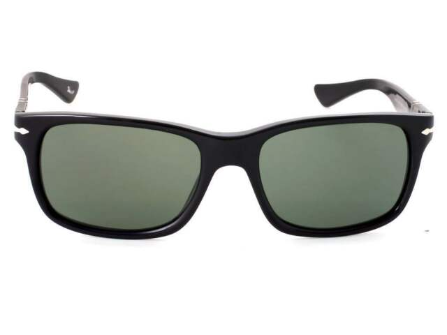 0ac405566c3 Original Persol PO 3048s 95 31 Black Frame Green Lens Sunglasses 55 ...