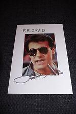 F. R. DAVID signed Autogramm auf 15x20 cm Karteikarte InPerson LOOK